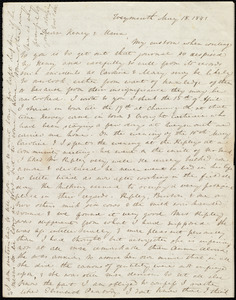Letter from Anne Warren Weston, Weymouth, [Mass.], to Henry Grafton Chapman and Maria Weston Chapman, May 18, 1841