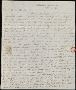 Letter from Anne Warren Weston, [Boston], to Lucia Weston, Monday morning, Sept. 19 / [18]41