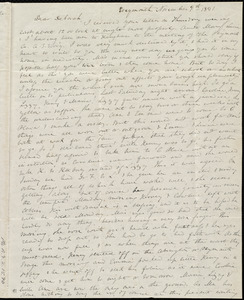 Letter from Anne Warren Weston, Weymouth, [Mass.], to Deborah Weston, November 9th, 1841