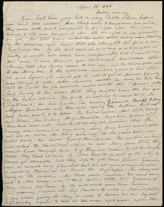 Letter from Anne Warren Weston to Mary Weston, April 15, 1836, Friday evening
