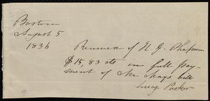 Letter from Anne Warren Weston, New Bedford, to Maria Weston Chapman, August 1, 1836