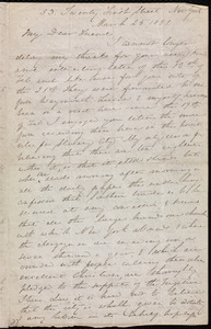 Letter from Anne Warren Weston, 53 Twenty First Street, New York, to Mary Anne Estlin, March 25, 1851