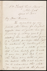 Letter from Anne Warren Weston, 53 Twenty First Street, New York, to Mary Anne Estlin, April 6, 1851