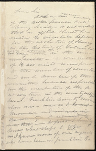 Draft of letter from Caroline Weston, [Boston?], to Stillman B. Newcomb, [Aug.? 1836]