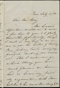 Letter from Caroline Weston, Paris, [France], to Samuel May, July 3 / [18]50