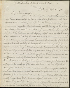 Letter from William Lloyd Garrison, Roxbury, [Mass.], to Caroline Weston, Sept. 1, 1871