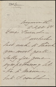 Letter from Deborah Weston, Weymouth, [Mass.], to William Lloyd Garrison, 2 Sept. '61