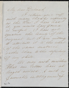 Letter from Mary Gray Chapman to Deborah Weston, April 16th, [1841?]