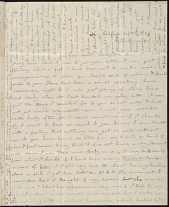 Letter from Deborah Weston, New Bedford, [Mass.], to Mary Weston, Sept. 17, 1836, Saturday morning