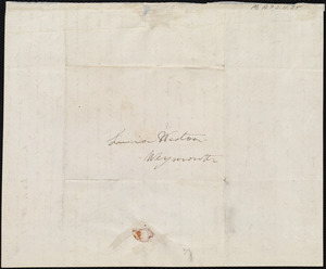 Letter from Deborah Weston, Boston, [Mass.], to Lucia Weston, Jan 12, [18]39