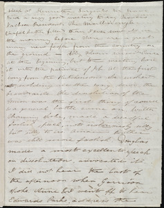 Incomplete letter from Deborah Weston, [Boston, Mass.], [1839?]