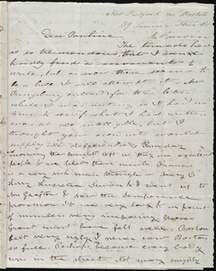 Letter from Deborah Weston, New Bedford no [sic] Boston, 39 Summer Street, to Caroline Weston, Sat. morn[ing], [June 1, 1844]