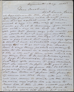 Unfinished letter from Deborah Weston, Weymouth, [Mass.], to Caroline Weston, May 1846