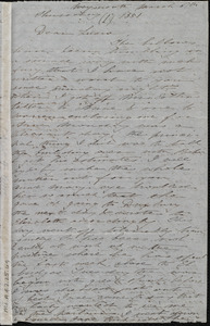 Incomplete letter from Deborah Weston, Weymouth, [Mass.], to Lucia Weston, March 6th, 1851, Thursday