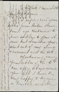 Letter from Deborah Weston, Weymouth, [Mass.], to Anne Greene Chapman Dicey, 11 March [18]61