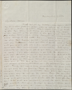 Letter from Emma Forbes Weston, [Boston, Mass.], to Deborah Weston, Sunday, July 9, 1842