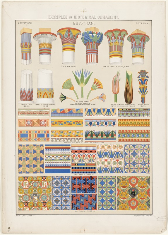 Examples of Historical Ornament, Egyptian