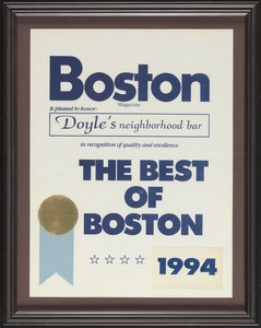 Boston Magazine, the best of Boston, 1994