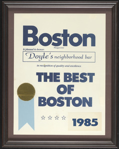 Boston Magazine, the best of Boston, 1985