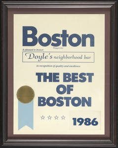 Boston Magazine, the best of Boston, 1986