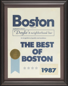 Boston Magazine, the best of Boston, 1987