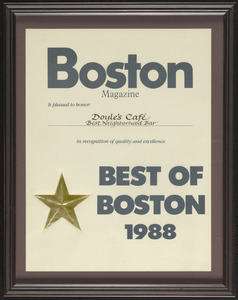 Boston Magazine, the best of Boston, 1988