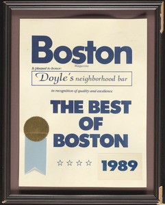 Boston Magazine, the best of Boston, 1989