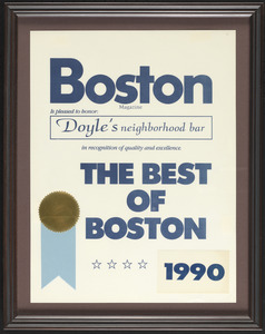 Boston Magazine, the best of Boston, 1990