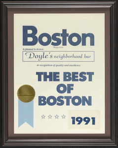 Boston Magazine, the best of Boston, 1991