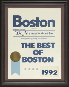 Boston Magazine, the best of Boston, 1992