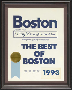 Boston Magazine, the best of Boston, 1993