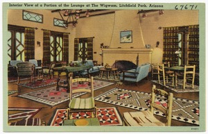 Interior view of a portion of the lounge at The Wigwam, Litchfield Park, Arizona