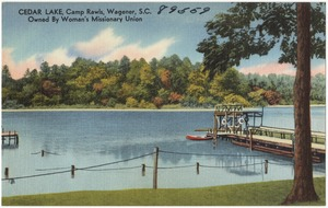 Cedar Lake, Camp Rawls, Wagener, S. C., owned by Woman's Missionary Union