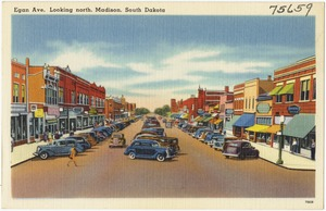 Egan Ave. looking north, Madison, South Dakota