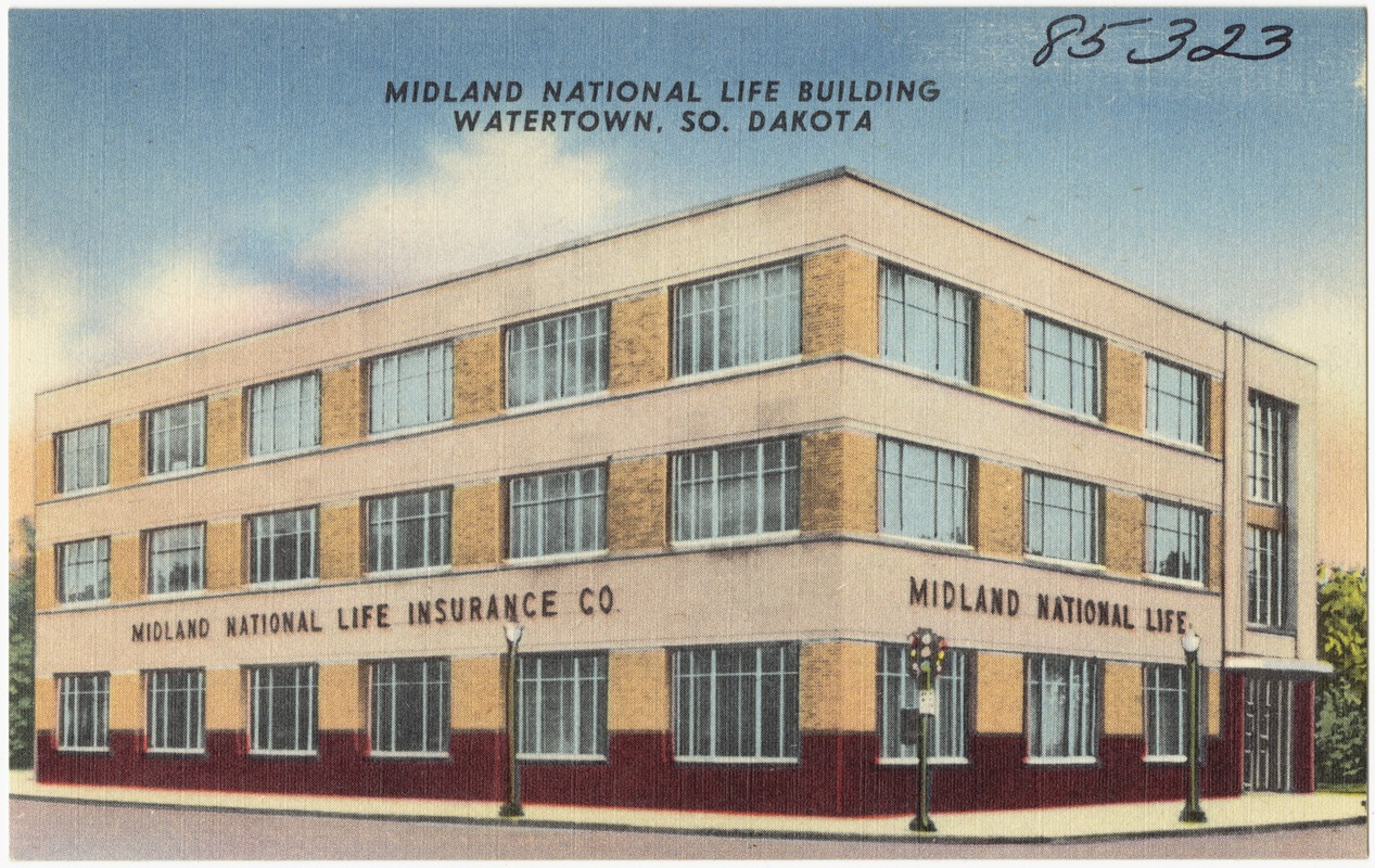 Midland National Life Building Watertown So Dakota Digital