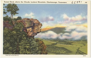 Sunset Rock, above the clouds, Lookout Mountain, Chattanooga, Tennessee