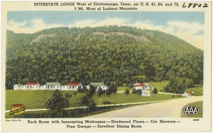 Interstate Lodge, west of Chattanooga, Tenn., on U.S. 41, 64, and 72, 3 mi. west of Lookout Mountain