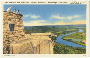 Ochs Memorial and Point Rock, Lookout Mountain, Chattanooga, Tennessee