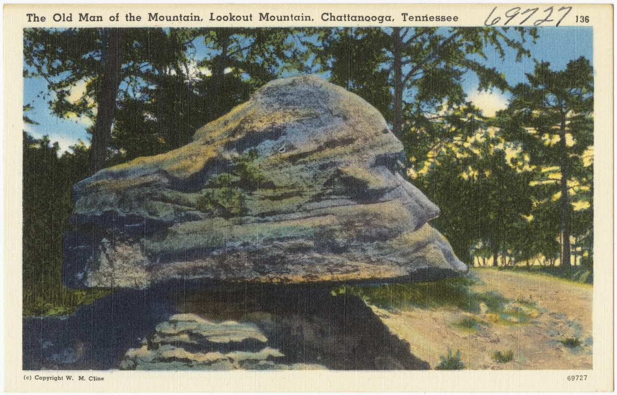 The Old Man of the Mountain, Lookout Mountain, Chattanooga, Tennessee