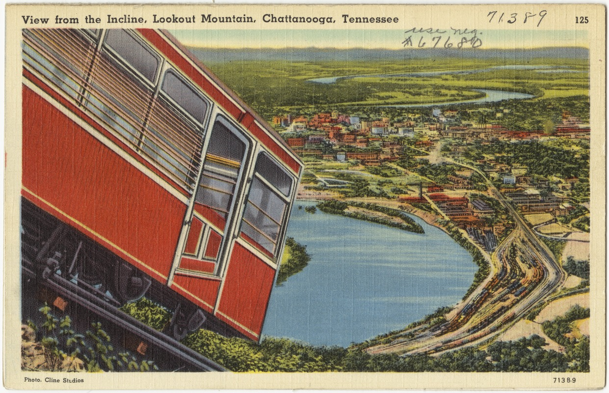 View from the incline, Lookout Mountain, Chattanooga, Tennessee