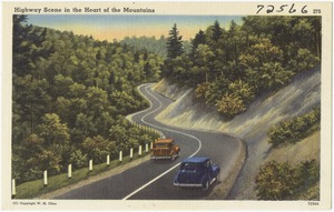 Highway scene in the heart of the mountains