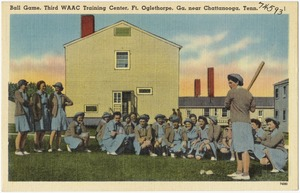 Ball game, Third WAAC Training Cente, Ft. Oglethorpe, Ga., near Chattanooga, Tenn.