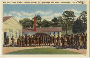 Pay day, Third WAAC Training Cente, Ft. Oglethorpe, Ga., near Chattanooga, Tenn.