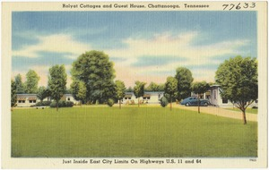 Rolyat Cottages and Guest House, Chattanooga, Tennessee, just inside east city limits on highways U.S. 11 and 64