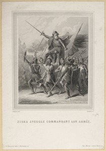 Blind Johan Žižka Commanding His Army