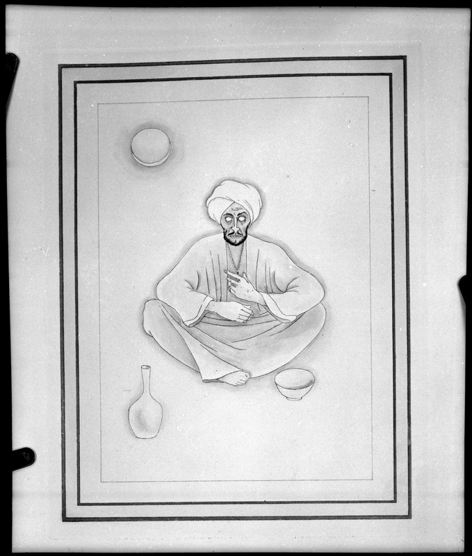Abul-Ala al Ma'arri (973-1051 A.D.) photographed from drawing in book by Richard von Belows