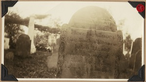 "Deacon John Heald ""lies buried"" in the Acton cemetery, Acton, Mass."