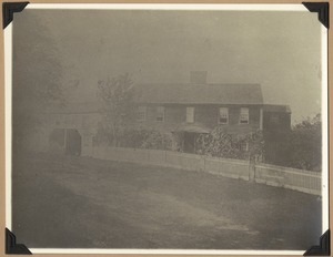 The Captain Thomas Heald house which stood on the South Road until about 1892 when it was destroyed by fire