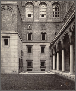 Boston, Massachusetts. Public library. South-east end of courtyard