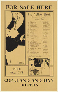 For sale here. The yellow book, contents of vol. IV, January 1895.